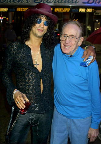 Guitarists Les Paul and Slash at Iridium Club Opening